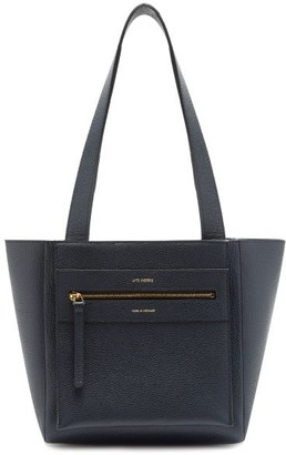 Lutz Morris Savoy Small Leather Tote Bag - Navy