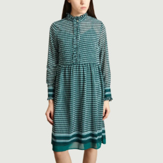 Suncoo Emerald Polyester Candy Dress - 0 | polyester | emerald - Emerald