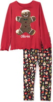 Beary Basics Red Personalized Tee & Black Holiday Leggings - Toddler & Girls