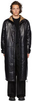 Kassl Editions Black Nylon Below The Knee Puffer Coat