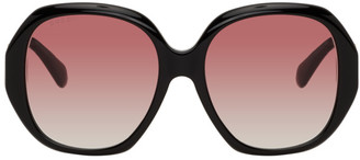 Gucci Black Oversized Round Sunglasses