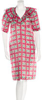 Marni Printed Ruffle Knee-Length Dress