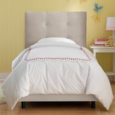 Skyline Furniture Kids Tufted Bed in Premier Platinum