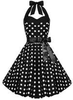 iLover Women Vintage Dresses Polka Dots 50s Rockabilly Wiggle Party Dress