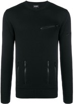Les Hommes fine knit fitted sweater