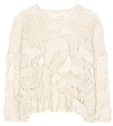 See by Chloe Knitted cotton top