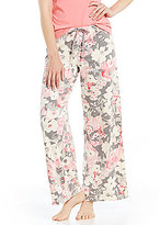 Hue HUEtopia Amber Floral Wide-Leg Sleep Pants