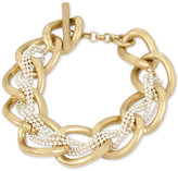Kenneth Cole New York Two-Tone Woven Chain Link Bracelet