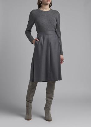 Agnona Wool A-Line Skirt
