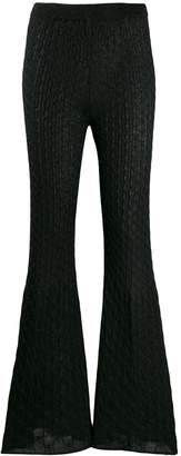 Circus Hotel lamé knit flared trousers