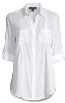 Lord & Taylor Collared Roll-Tab Shirt