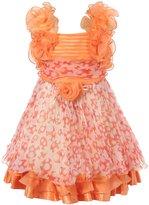 Richie House Girl's Chiffon Dress with Ruffles RH1446-A-5/6