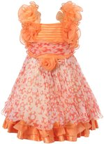 Richie House Girl's Princess Party Dress with Ruffles Size 2-6Y