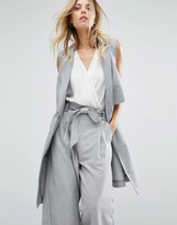 BOSS ORANGE Sleeveless Gray Jacket