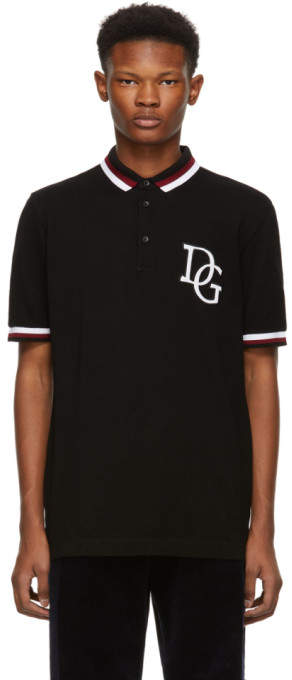Dolce & Gabbana Black Logo Polo