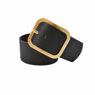 Theavant Wide Leather Waist Belt