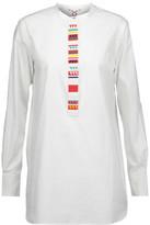 Figue Tatiana Bead-Embellished Cotton-Poplin Tunic