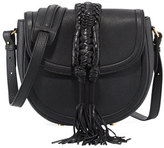 Altuzarra Ghianda Small Knot Saddle Bag, Black
