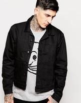 Cheap Monday Denim Jacket Type X Rinse Black - Black