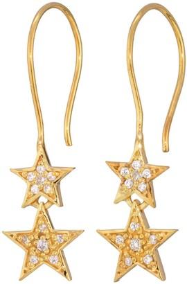Lucky Star Double Drop Earrings Gold
