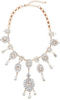 Natasha Accessories Large Crystal Cluster Drop Necklace