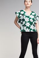 Anthropologie Jerrie Floral-Print Blouse