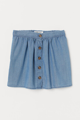 H&M Button-front Skirt - Blue