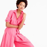 J.Crew Collection wide-leg jumpsuit in bright dahlia