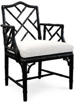 Jonathan Adler Black Chippendale Arm Chair