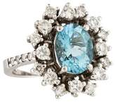 Effy Jewelry 14K Aquamarine & Diamond Ring