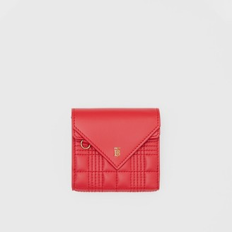 Burberry Quilted Lambskin Folding Wallet