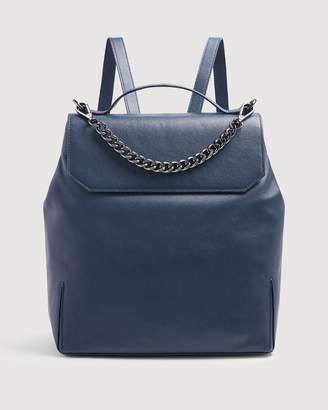 7 For All Mankind Leather Backpack in Navy