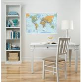 WallPOPs 24 in. x 36 in. Dry Erase World Map Wall Decal