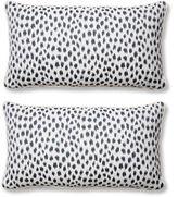 Miles Talbott S/2 Agra 12x23 Sunbrella Lumbar Pillows, Indigo