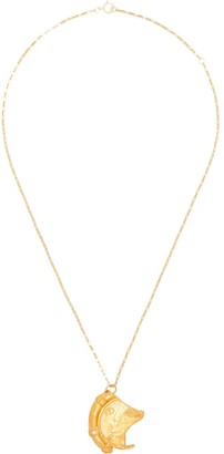 Alighieri 24kt gold-plated The Old Time's Sake Chapter I necklace