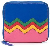 M Missoni Zigzag Embroidered Zipped Wallet