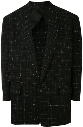 1950s Tailored Check Pattern Blazer