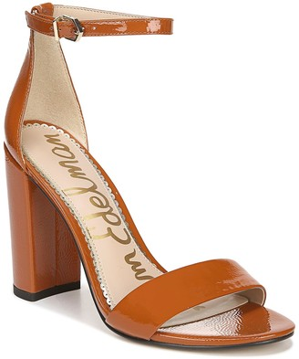 Sam Edelman Yaro Patent Leather Block Heel Sandal