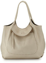 Henry Beguelin Canotta Hippie Leather Shoulder Bag, Cream