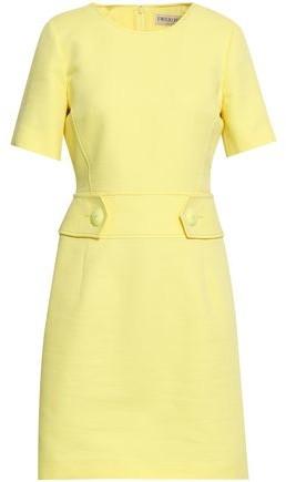 Emilio Pucci Button-detailed Cotton And Silk-blend Pique Mini Dress