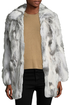 Adrienne Landau Fur Spread Collar Coat