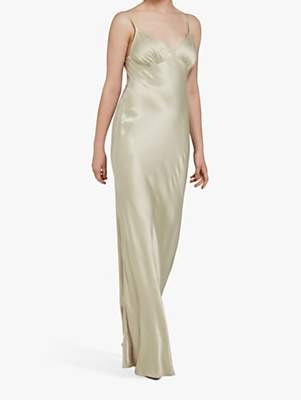 Ghost Drew Satin Maxi Dress
