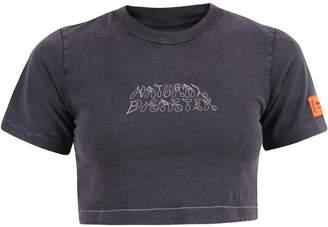 Heron Preston Cropped Jersey T-Shirt