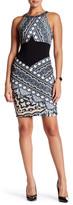 Hale Bob Contrast Colorblock Sleeveless Dress