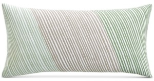 "Charter Club Damask Designs Diagonal Stripe 12"" x 24"" Decorative Pillow, Created for Macy's Bedding"
