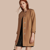 Burberry Technical Wool Cashmere Blend Collarless Coat