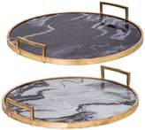 R16 Home Deco Marble Look Tray - Set of 2