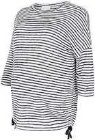 Yours Clothing YoursClothing Plus Size Womens Bump It Up Maternity Stripe Fine Knit Top Ruched