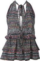 IRO snakeskin print halterneck blouse - women - Silk - 34