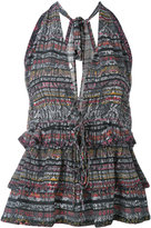 IRO snakeskin print halterneck blouse - women - Silk - 36
